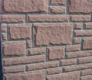 Red Sandstone Pitched Face Walling