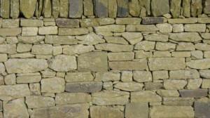 Buff Drystone Walling