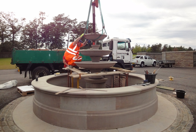 Fully working bespoke fountain. Designed, produced and built by Tradstocks.