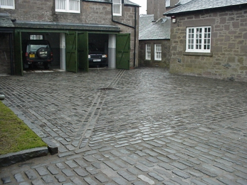 Recycled Whin Setts used for a Perthshire Estate Courtyard