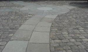 Circle, Path & Stone Setts