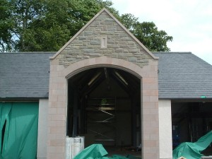 Arched feature
