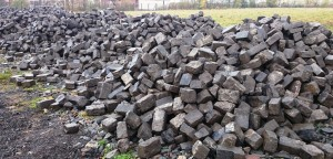 Reclaimed Whin Setts - Stockpile Jan15