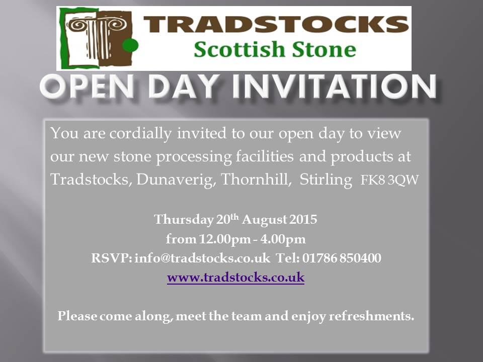 Open day invitation reva natural stone tradstocks open day invitation reva stopboris Image collections